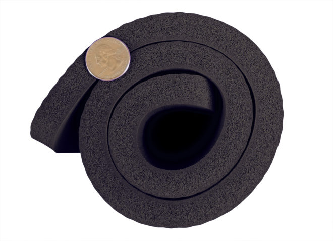 Black Yoga Knee Pad 15mm Thick