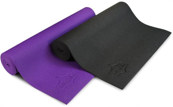 Full-Size Yoga Mat - Purple or Black