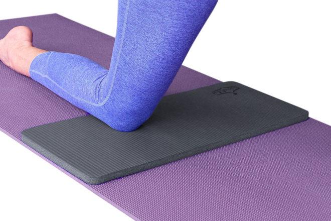 Grey Yoga Knee Pad