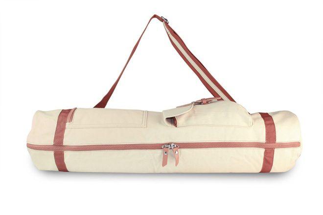 Large Natural Yoga Mat Bag