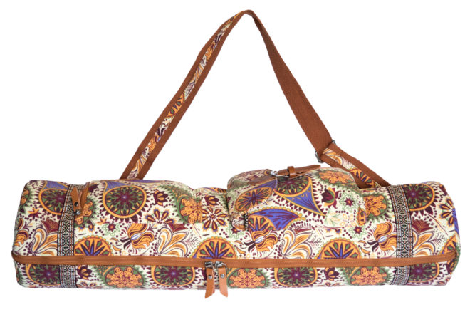 Large Paisley Yoga Mat Bag